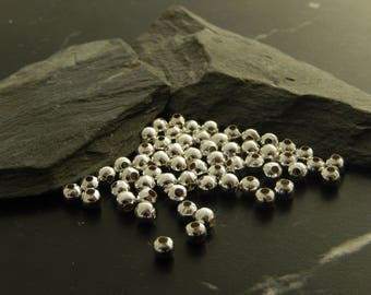 Set of 20 spacer beads silver
