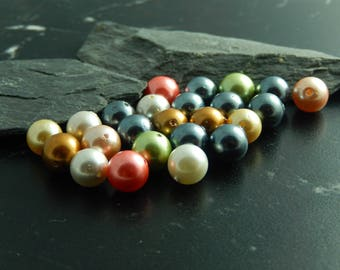 Colorful pearl beads 10 class AB, 8 mm