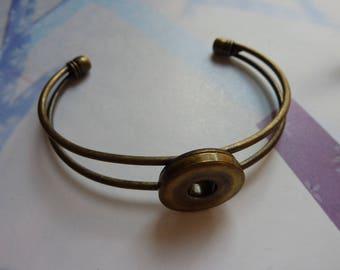 Bracelet 1 to 20mm adjustable brass snap