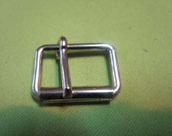 a very solid nickel roller buckle