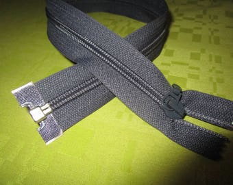 paper color dark gray nylon zip