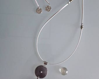 White suede necklace