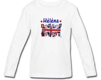 T-shirt sleeves London girl personalized with name
