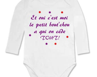 Funny baby Bodysuit and yes the...