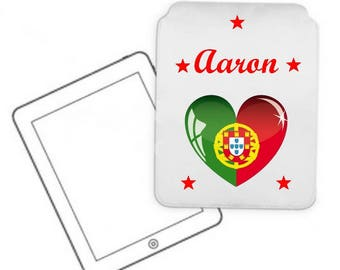 Cover for tablet pc Portugal personalized with name