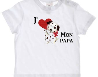 tee shirt baby Message I love my Daddy