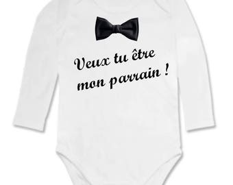 Onesie Message will you be my godfather