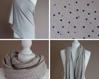 Nursing scarf, snood, Court, lined