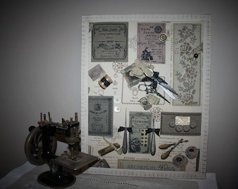 Frame home decor sewing themed