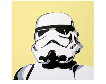 Mr Yellow Hand Pulled Stormtrooper Screen Print Limited Edition