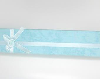 Box, gift box, rectangular, bracelets, watches, blue