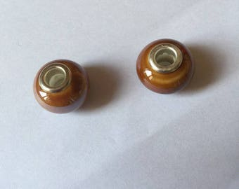 Amber/BRONZE Pearl porcelain (two)