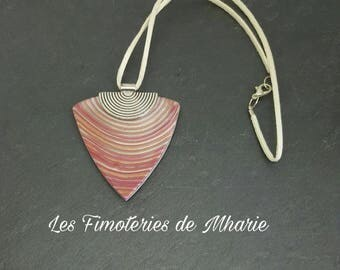Pendant polymer clay - mica shift striped collection