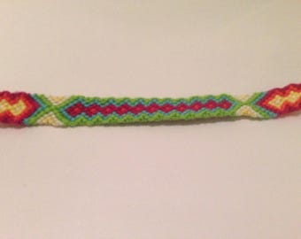 Brazilian style white green yellow pink blue and orange