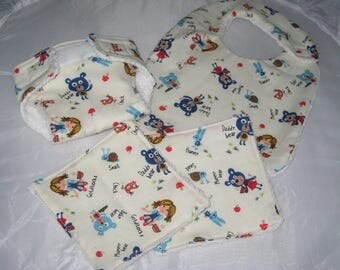"Diaper, wipes and bib for Doll ""Toys"""