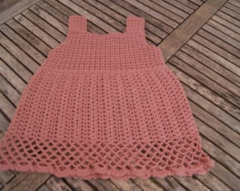 "cotton strapless summer dress ""pink"" 9/12 months"