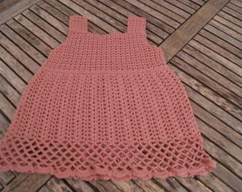 "cotton strapless summer dress ""pink"" 9/12 months"