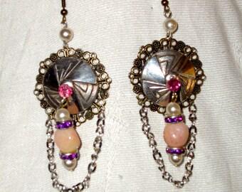 Art Deco spring style earrings