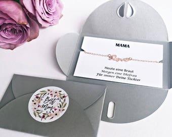 Mum Bracelet: love bracelet ROSÉ GOLD + map