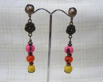 Seeds Acai on bronze Stud Earrings