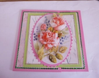"""201837 card for all occasions """"bouquet of roses"""""""