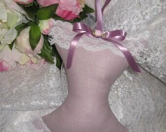 Free shipping! Large decorative corset shabby style