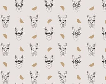Tissu coton épais Gold Lama - Katia Fabrics
