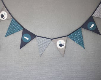 """whale"" - doodads from Princess and Pirates flags Garland"