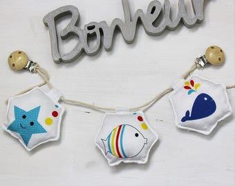 Garland stroller - rattle hanging sea pattern