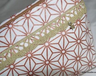 Kit sewing, coated, Kit zippée et doublée stars theme