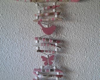 Rose Garland in driftwood and shells