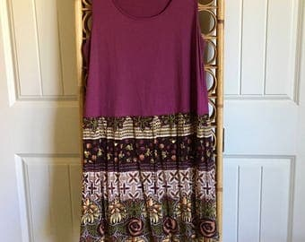 Upcycled Recycled Repurposed Boho Tunic/Top/Dress M/LG