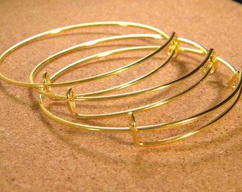 3 rigid Bangle bracelet - 65 mm Golden to customize