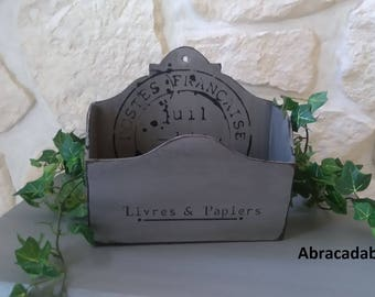 Reserved mail antique old wooden box
