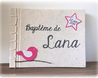 Guestbook bapeme star bird theme