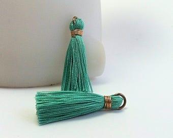 Cotton - Turquoise tassel
