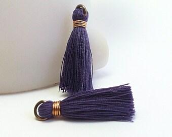 Cotton - purple tassel