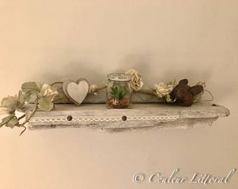 Romantic drift wood wall shelf