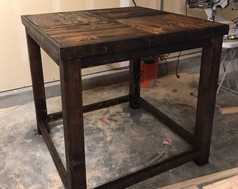 Nice Pub Style Table | Rustic Dining Table | Wood Table | Rustic Dinner Table |  Farmhouse