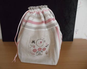 "Bag shape bag ""C"" very cool pink/beige"