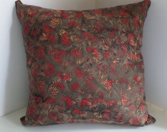 Batik Square Pillow Cover, 16x16 inches, Zipper Closure, Cushion Sham
