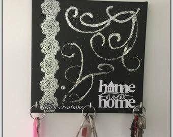 Key wall hanging keys, small table, home, money, Arabesque