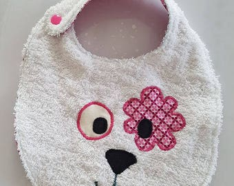 Bib with Terry pink face