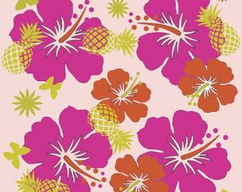 Hibiscus design fabric