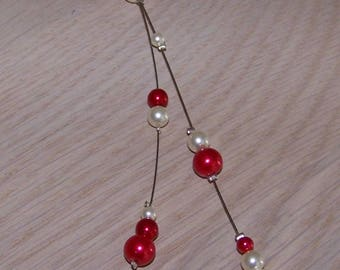 Back jewel necklace wedding necklace ceremony back red and white jewelry, cheap back jewel