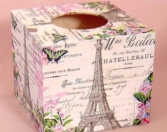 Box tissue advertising Eiffel Tower