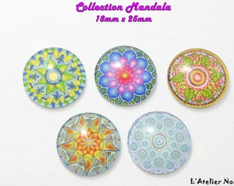 Set of 5 Stud ø25mm Mandala collection