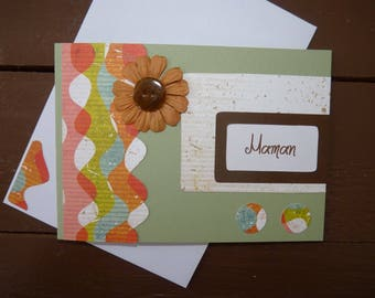 "Double scrapbooking ""MOM"" card any occasion"