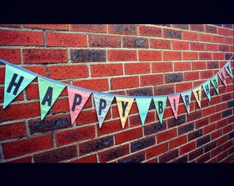 Happy Birthday Fabric Bunting