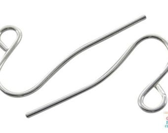 supports 20 = 10 pairs nickel free metal (BO32) hook earrings